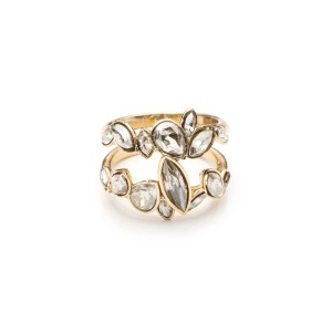 Gold Liquid Crystal Stacking Ring