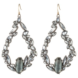 Liquid Crystal Link Earring with Pyrite Doublet